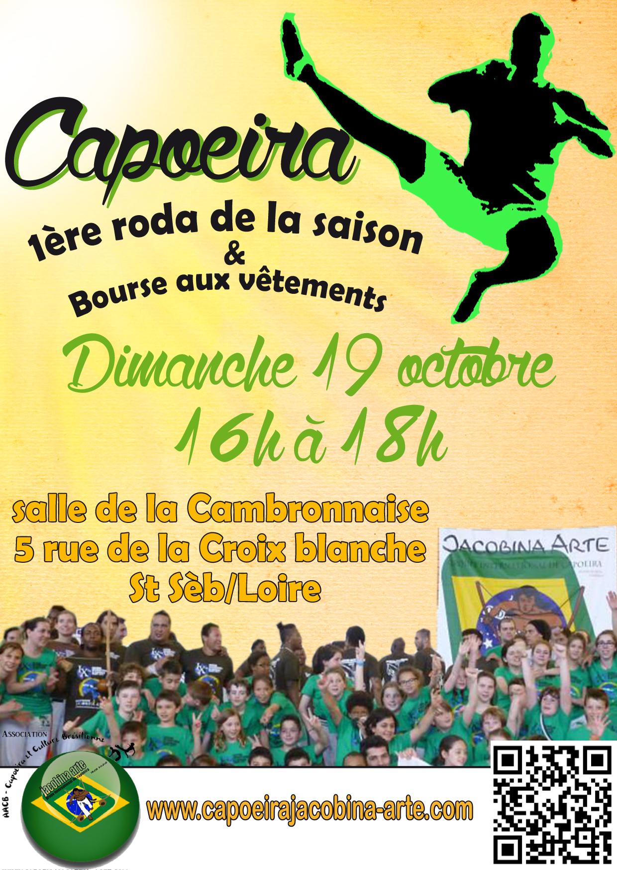 flyer capoeira jacobina arte 1ère Roda de la saison