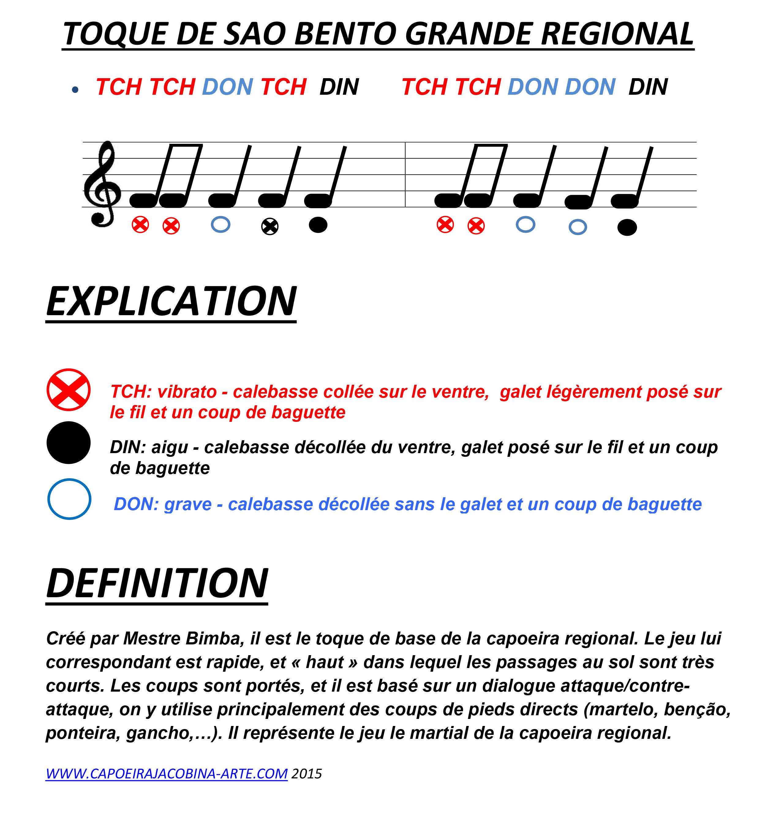 TOQUE DE SAO BENTO GRANDE REGIONAL